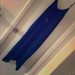 Navy Blue Maxi Dress with Pockets